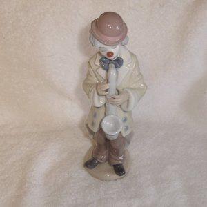 Lladro Spain figurine Sad Sax clown saxophone